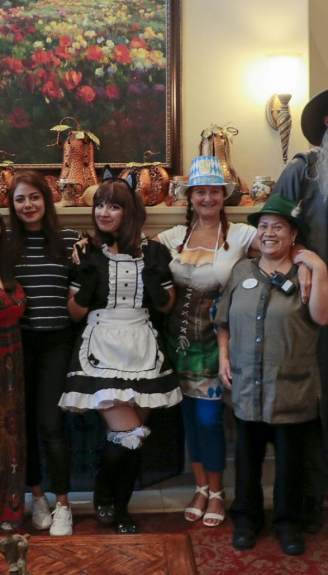 The Psi Beta group helped the staff from Oakmont of Carmichael with the activities of the Oktoberfest event. Here is the team from American River College Psi Beta club with the staff and residents from the assisted living and memory care facility on October 20,2018.