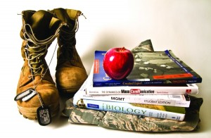 By year's end, nearly 40,000 troops will be home from Iraq. Many will be going back to school. Is American River College ready for a potential surge in student veterans? (Photo illustration by Andrew Vasquez)