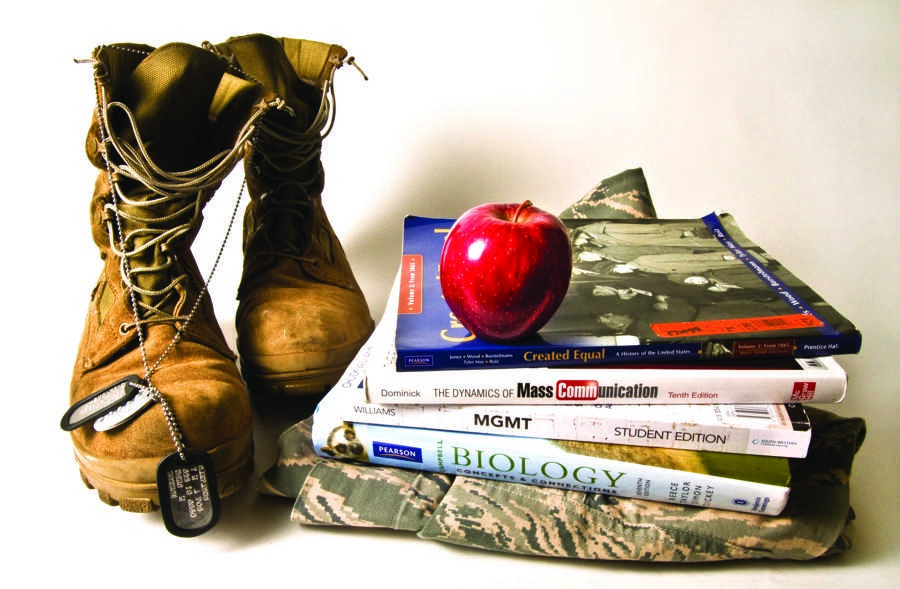By years end, nearly 40,000 troops will be home from Iraq. Many will be going back to school. Is American River College ready for a potential surge in student veterans? (Photo illustration by Andrew Vasquez)