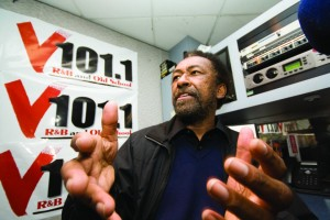 Wilbur Johnson, a journalism professor at American River College, also D.J.s at a local R&B and old-school radio station V101.1 with the D.J. name of Don Sainte-Johnn. (Photo by Bryce Fraser)