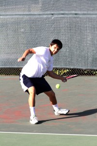 Freshmen dominate tennis teams