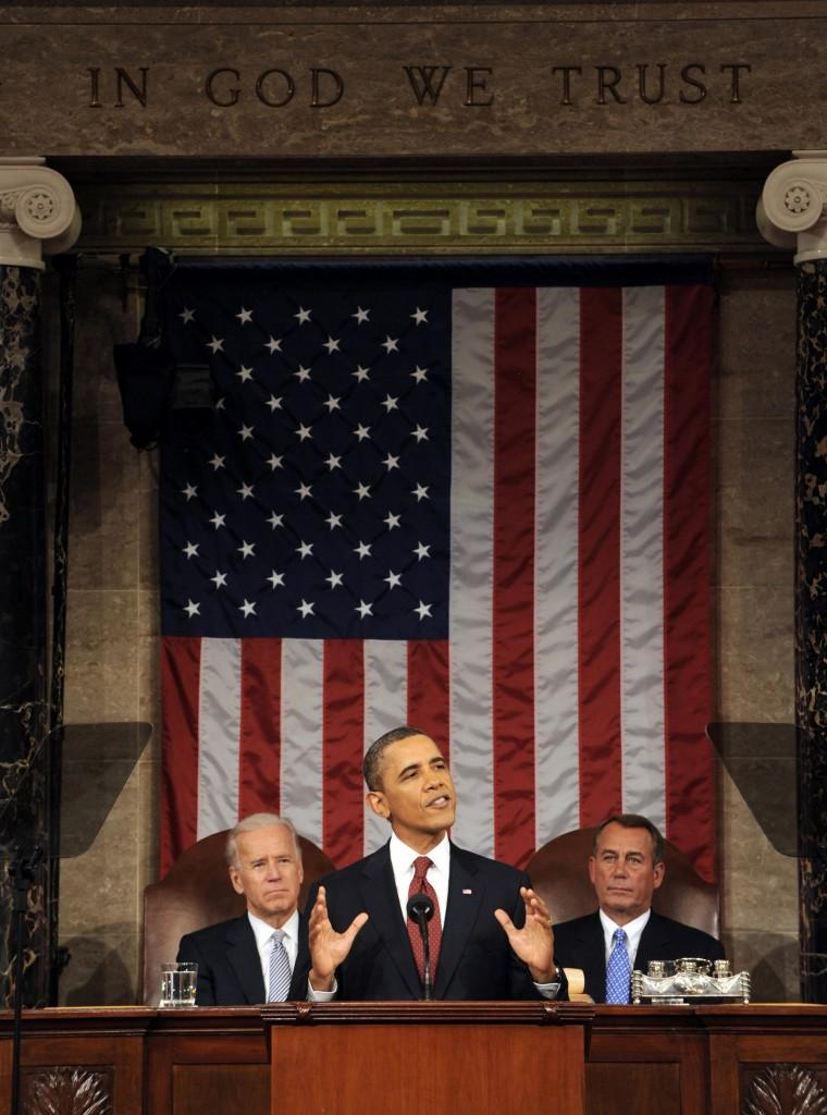 President Barack Obama delivers the State of the Union address on Jan. 31
