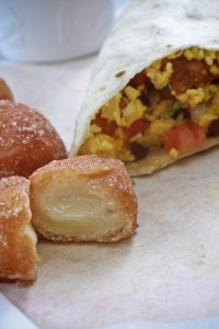 Taco Bell offers a new breakfast menu including burritos and Cinnabon Delights. (Photo by Stephanie Lee)