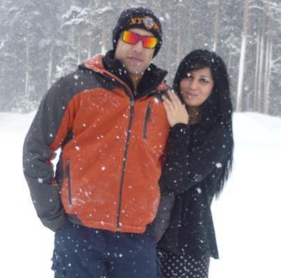 Paimana Khanjar and brother Jason on Feb. 22.