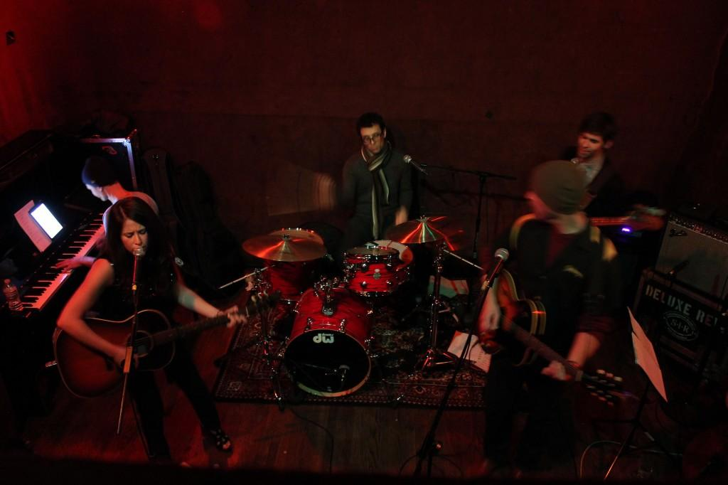 Alyssa Graham and her band perform in front of a packed Hotel Utah on March 17.