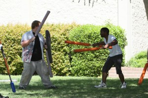 Live action role play fights its way on campus