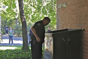 Explosion near Raef Hall caused by large firecracker