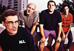 From left to right, Milo Aukerman, Stephen Egerton, Bill Stevenson and Karl Alvarex posing shortly after their first studio album