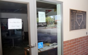 The Dusty Baker Center, a counseling office for student-athletes, has a sign posted on its door since Oct. 12 claiming that the office is