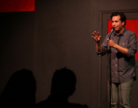 Former ARC student Alfonso Portela performs his stand-up comedy routine at the Comedy Spot in Midtown Sacramento on Feb. 14. (Photo by Daniel Romandia)