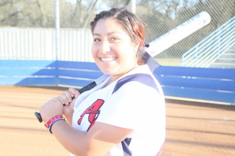 Giselle Jiminez, No. 22 on ARC's Softball team leads the state in batting average, homeruns and RBI's. (Photo by Emily K. Rabasto)