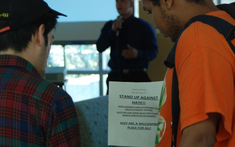 Student services center sees political action