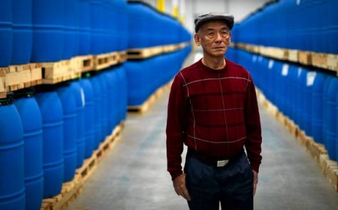 IRWINDALE, CA - MARCH 6, 2013: David Tran, Sriracha founder and creator, has expanded his hot sauce company Huy Fong Foods to a large facility in Irwindale, California. The warehouse contains rows and rows of fresh chilies used in the hot sauce. (Gina Ferazzi / Los Angeles Times)