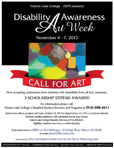 Los Rios College District Disability Awareness Art Week taking submissions