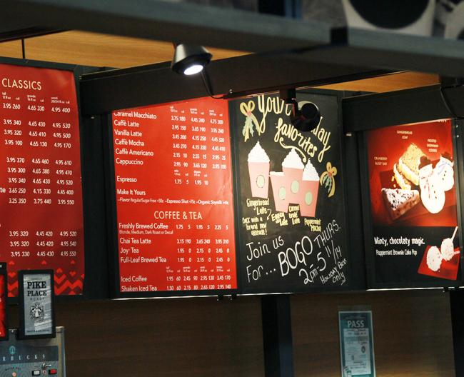 Starbucks has started its holiday campaign, which is resulting in long lines. It has drinks themed to fit the holiday season as well as coffee mugs and Christmas tree ornaments for sale. Holiday themed drinks for sale include the Caramel Brulee Latte, Peppermint Mocha, Gingerbread Latte and the Eggnog Latte.