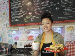 Pork Belly Grub Shack employee Jennifer Phan, 20, says the best part about working there is the bond between the customers and her co-workers.