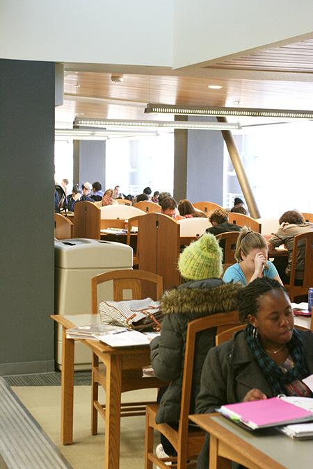 It about that time, finals week is coming around the corner and in the library these ARC students are in preparation to study for their finals. Finals start Dec. 13 through the 19th. Make sure you find time to go out and prepare for your finals this week.