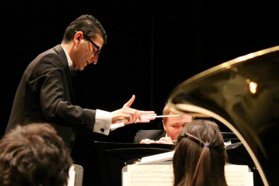 Mohammad Hassani conducts the ARC Orchestra for the first time in his career. (Photo courtesy of Mohammad Hassani)