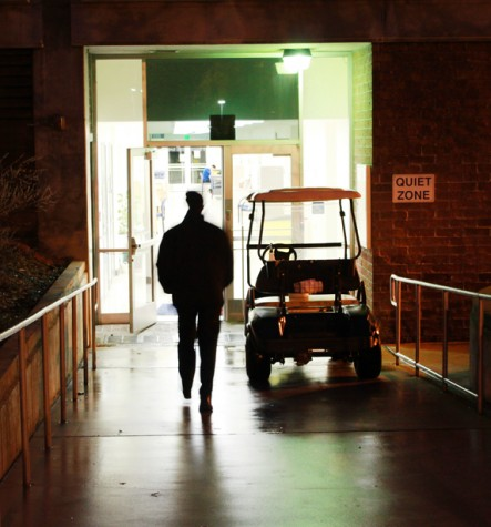 At approximately 6 p.m. on Monday night, a student who is confined to a wheelchair had their iPad stolen by a man near the basement floor of the American River College library. (Photo by Emily K. Rabasto)