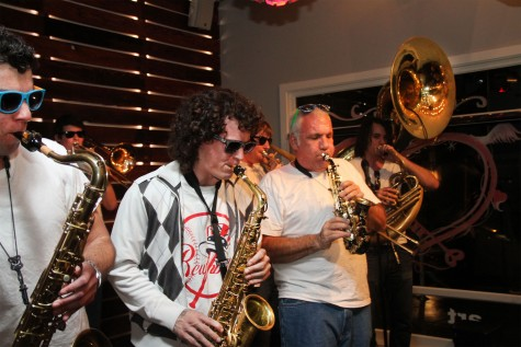 The City of Trees Brass Band performed both original pieces and popilar compositions, such as Daft Punk's
