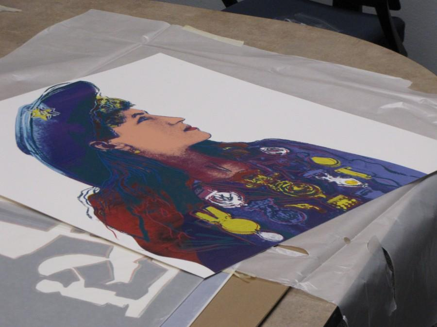 Warhol%E2%80%99s+%E2%80%9CAnnie+Oakley%E2%80%9D+is+an+off-edition+print.+In+2010%2C+a+standard+print+of+this+silkscreen+was+auctioned+off+for+%2419%2C520.+%28Photo+courtesy+of+Kirsten+Du+Bray%29