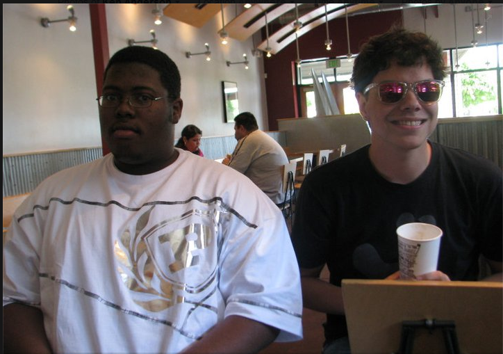 Subway rape suspect Kenneth Chandler Anderson, left, sits with high school friend and ARC student Daniel Romandia, right, at a Chipotle in May of 2011. Romandia said he was surprised after receiving a text from a mutual friend telling him about Anderson's arrest. (Photo courtesy of Daniel Romandia)