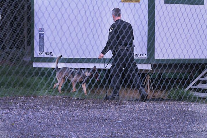 Sac County Sheriffs and campus police search construction site for trespasser