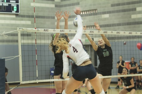 Volleyball team heads into playoffs after a 3-0 victory