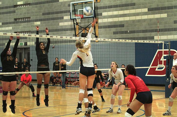 ARC volleyball wins the first round of the playoff games