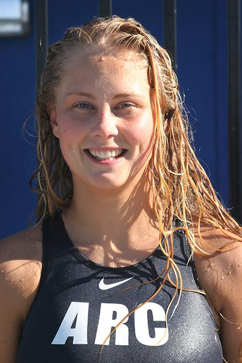 Women's water polo player Avery Dotterer.