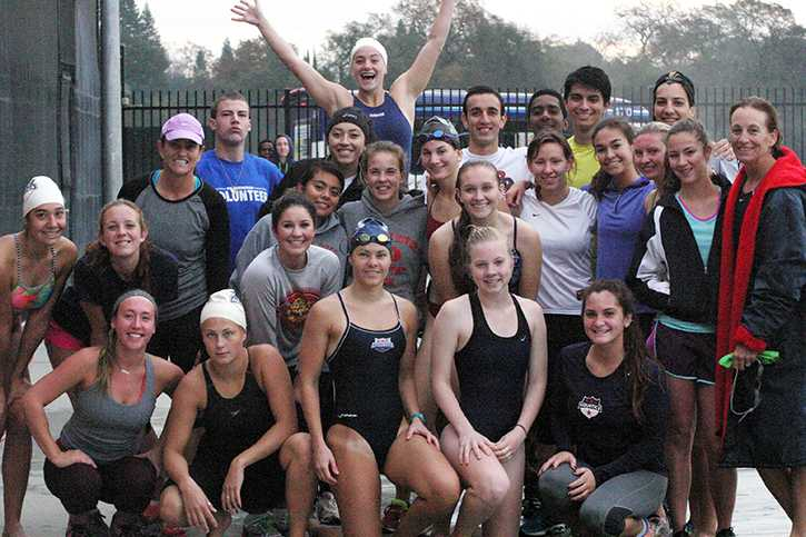 Women's cross-country and water polo go head to head