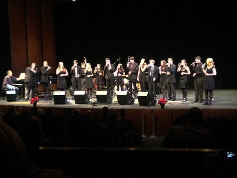 Vocal jazz warms up ARC at winter concert