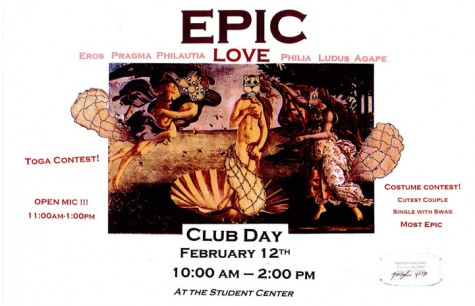 'Epic Love' Club Day is right around the corner