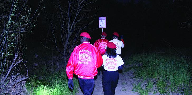 Guardian Angels patrol high-crime trail
