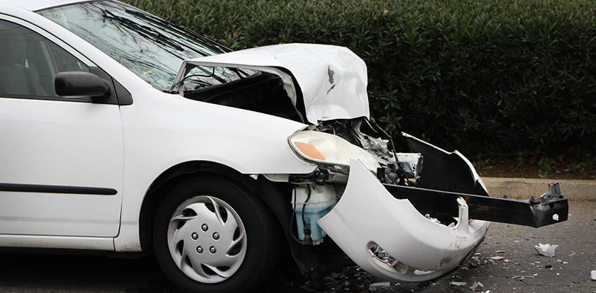 Three car crash near Davies Hall sends driver to hospital