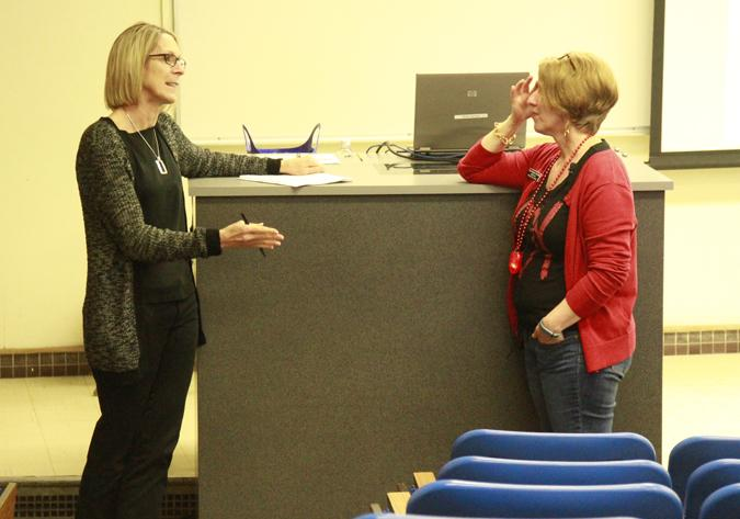 Healthy hearts discussed at college hour