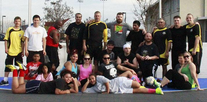 Former homeless drug addicts speak about Street Soccer USA