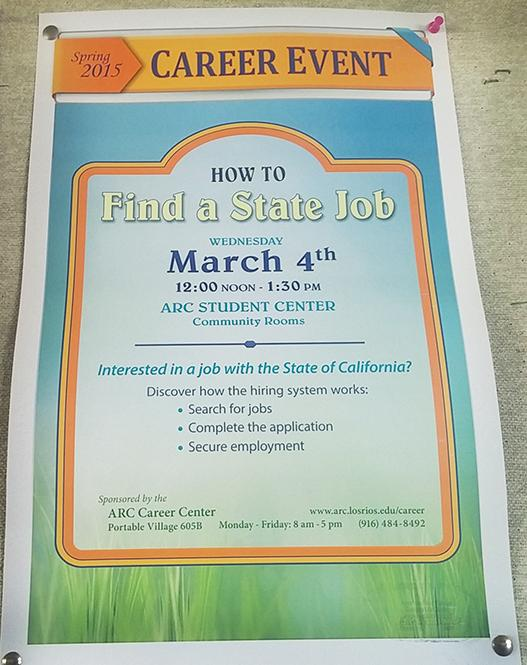 Employment workshop in Student Center to focus on state jobs