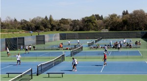 ARC's men's tennis team hosted a match against Foothill College on Saturday, March 7.