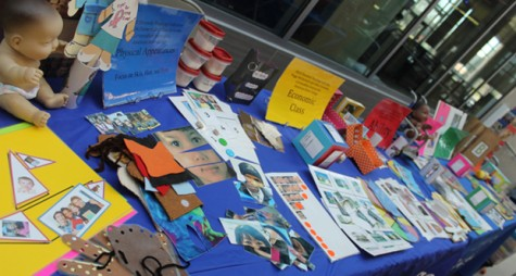 A table at the Diversity Day displayed examples and literature that are taught to our preschoolers concerning diversity.