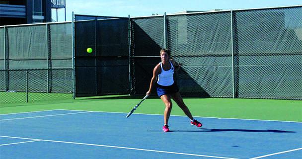Men's tennis won 8-1, women's won 5-4