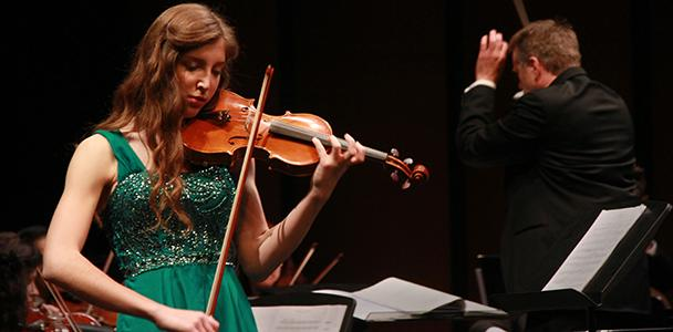 Anna+Lyubezhanina+on+violin+performed+during+the+ARC+orchestra+-+coordinated+by+Steven+Thompson+last+Friday+and+Saturday+night.+