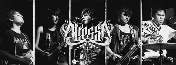 Members of the band Altessa, from left: Kendall Schoenfeld, Richie Gomes, Bill Zindel, Julian Grenz and Leonard Gutay. Grenz, who is an ARC music student, recalled the band's time playing The Warped Tour as going to