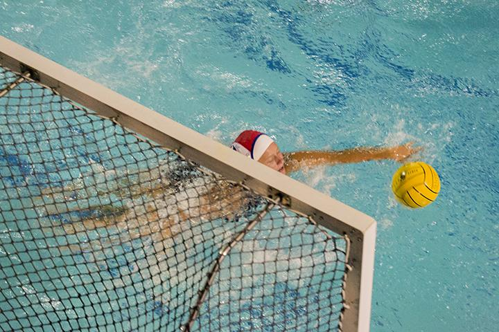 American River College scores during the Water Polo Match against Cerritos College on September 10th, 2015 at ARC. ARC's water polo team is now 2-5 heading into the Mt. Sac Invite on Sept. 26, 2015. (photo by Joe Padilla)