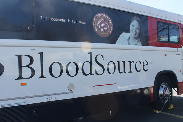 File Photo- Taken at past blood drive on March 4th, 2015. BloodSource van will be back on campus next Tuesday.