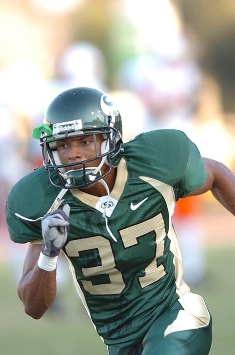 Carlos Francies, a sheriff's deputy with the Contra Costa Sheriff's Department, drowned in Lake Tahoe Aug. 13 while attempting to save a friend who he thought was drowning. Francies played football for American River College, participated in track and field and went on to play football for Sacramento State. (Photo courtesy of Sacramento State Athletics)