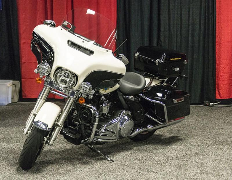 Sacramento International Auto Show displays a California Highway Patrol Motorcycle during the show Oct.16-18 at Cal Expo. (Photo by Joe Padilla)