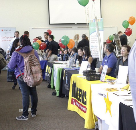American River College hosts a carrer day for students. Employers came from all over Northern California in hopes of recurting students now and for the future on Oct. 1. (Photo by Emily Thompson)