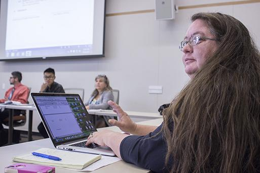 Sen. Tamara Dunning raises her hand asking permission to speak on the proposed recall of Los Rios Student Trustee Cameron Weaver on Thursday. Three of the four student governments of the Los Rios colleges would have to agree to recall Weaver for a special election to take place. (Photo by Karen Reay)