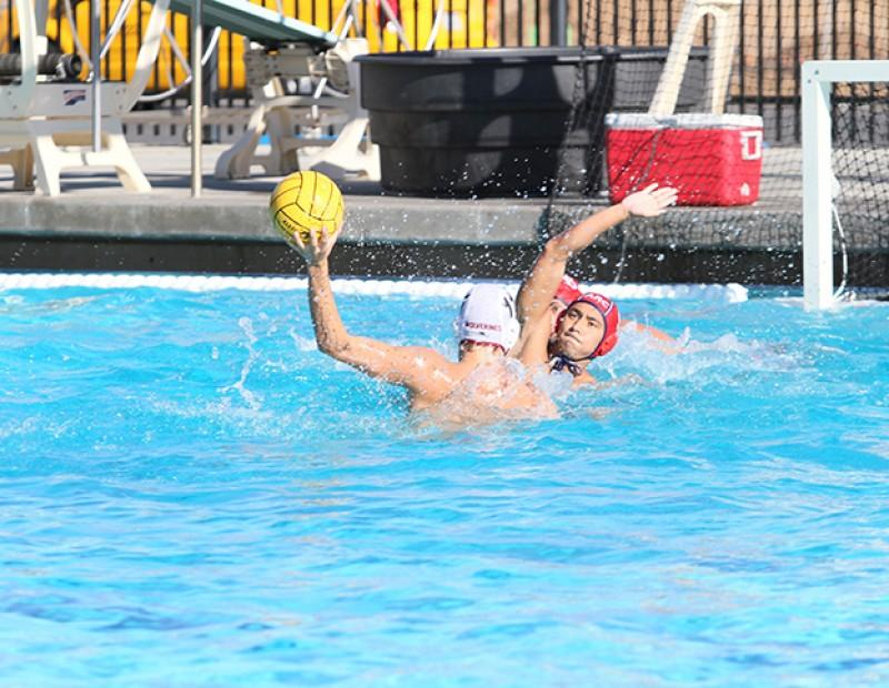 Austen Takahashi, attacker for American River College attempts to block a Sierra player on defense. Sierra defeated ARC by a score of 4-3 on October 21, 2015 and ARC is now 2-2 in conference. (Photo by Nicholas Corey)